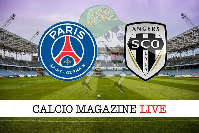PSG Angers cronaca diretta live risultato in tempo reale
