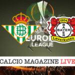 Real Betis Bayer Leverkusen cronaca diretta live risultato in tempo reale