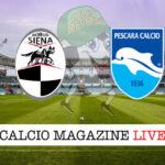 Siena Pescara cronaca diretta live risultato in tempo reale