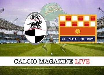 Siena Pistoiese cronaca diretta live risultato in campo reale