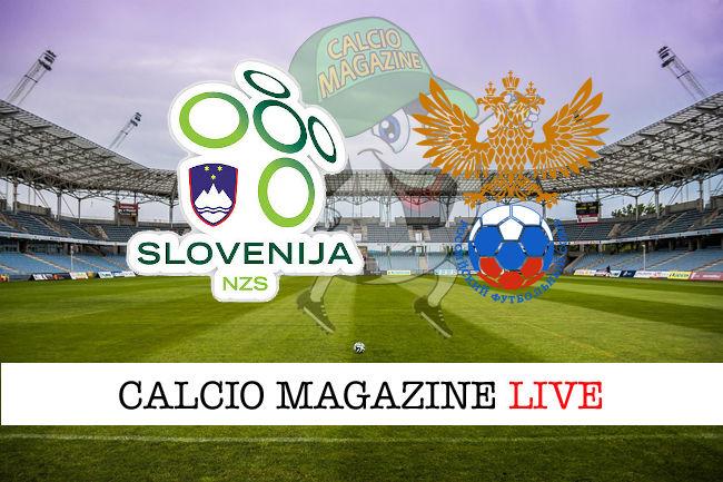 Slovenia Russia cronaca diretta live risultato in tempo reale